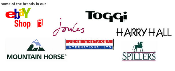 major brands we deal with such as Joules, Toggi, Puffa, John Whitaker and many more
